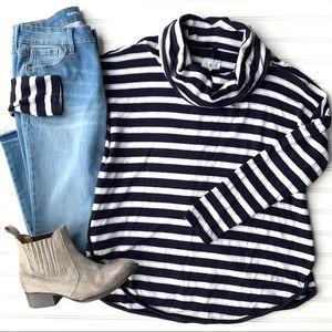 Lou & Grey Stripe Cowl Tunic   sizes L; XXL